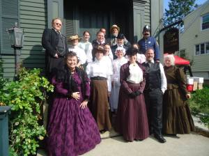 The Cast on the Porch of the Lizzie Borden Bed and Breakfast